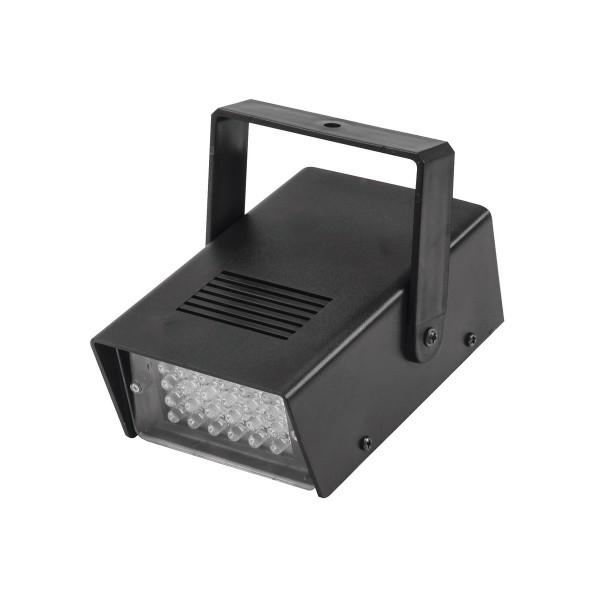 LED Disco Strobe weiß - Stroboskop mit Musiksteuerung und Geschwindigkeitsregelung