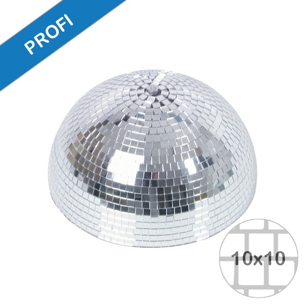 Spiegelkugel halb Halbkugel 30cm silber chrom- Diskokugel (Discokugel) Party Lichteffekt - Echtglas - mirrorball half safety silver chrome color
