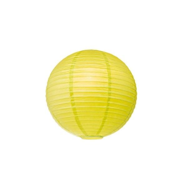 Lampion aus Papier - gelbgrün - 40cm - für E27 Hängefassungen oder Lichterketten