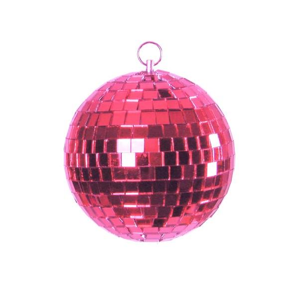 Spiegelkugel 20cm farbig pink rosa- Diskokugel (Discokugel) zur Dekoration und Party- Echtglas - mirrorball pink rose purple