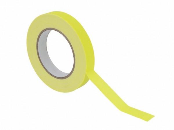 UV Gaffa Tape neongelb - 19mm x 25m - Schwarzlicht Aktives Gewebeband