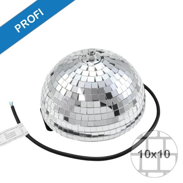 Spiegelkugel halb Halbkugel 20cm silber chrom- Diskokugel (Discokugel) Party Lichteffekt - Echtglas - mirrorball half safety silver chrome color