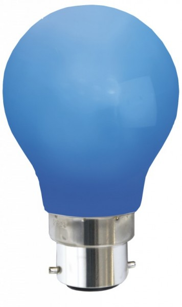 Decoline - LED-Leuchtmittel - B22 - 0,7W LED - Blau