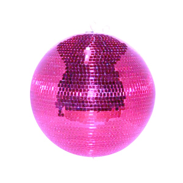 Spiegelkugel 50cm pink rosa purple- Diskokugel (Discokugel) Party Lichteffekt - Echtglas - mirrorball safety pink color