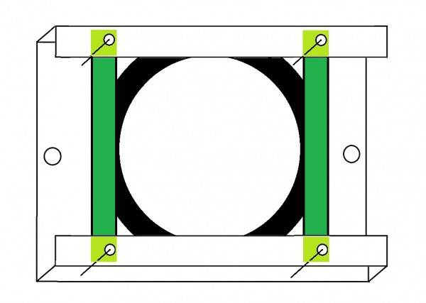 Truss Montageplatte für MBM-5010 Spiegelkugelmotor - Stahl - nach BGV-C1