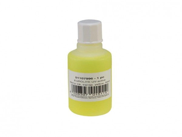 UV -aktive Stempelfarbe - transparent gelb - 50ml