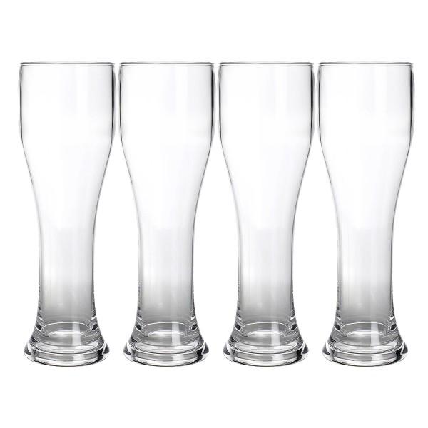 4 x Weizenbierglas aus bruchfestem Polycarbonat - 650ml