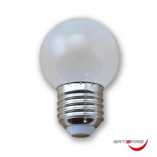 Kugellampe G45 opal - 2100K ultra-warmweiss - E27 - 45lm - 1W