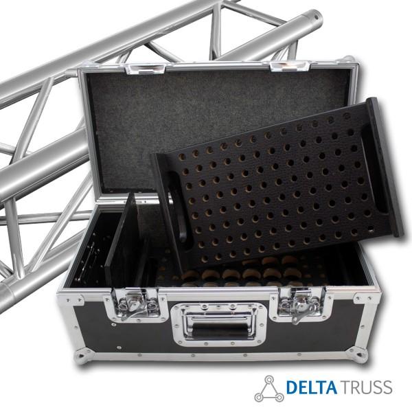 CONUS CASE – Flightcase für Trussverbinder | Transportkiste für 24 konische Verbinder und 136 Stahlpins + Safety Clips | Roadcase | DELTATRUSS