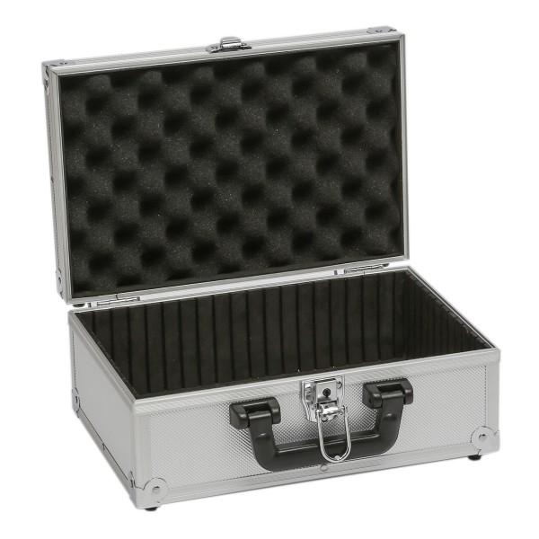 Transportkoffer BASIC S silber - Aluminiumrahmen - Schaumstoffpolster