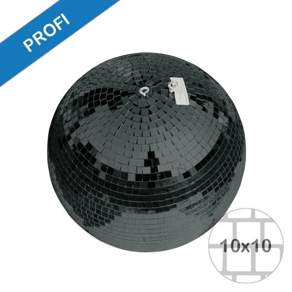 Spiegelkugel 30cm farbig schwarz- Diskokugel (Discokugel) Party Lichteffekt - Echtglas - mirrorball black color
