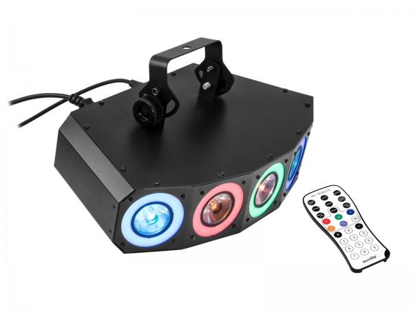 LED Hybrid Strahleneffekt - vollwertiger Party Lichteffekt mit Farben und Strahlen
