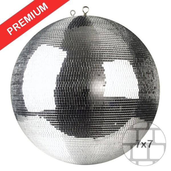 Spiegelkugel 50cm silber chrom- Diskokugel (Discokugel) Party Lichteffekt - Echtglas - mirrorball safety chrome color