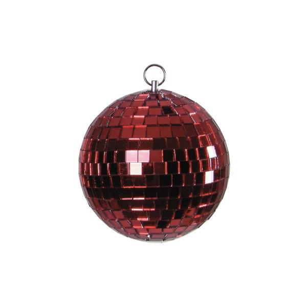 Spiegelkugel 15cm farbig rot- Diskokugel (Discokugel) zur Dekoration - Echtglas - mirrorball rot