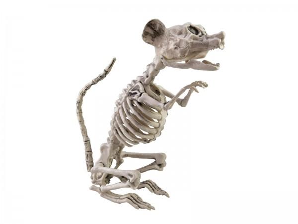 Rattenskelett sitzend, Dekofigur für Halloween 32x10x16cm - bewegliche Teile - Grusel Dekoration