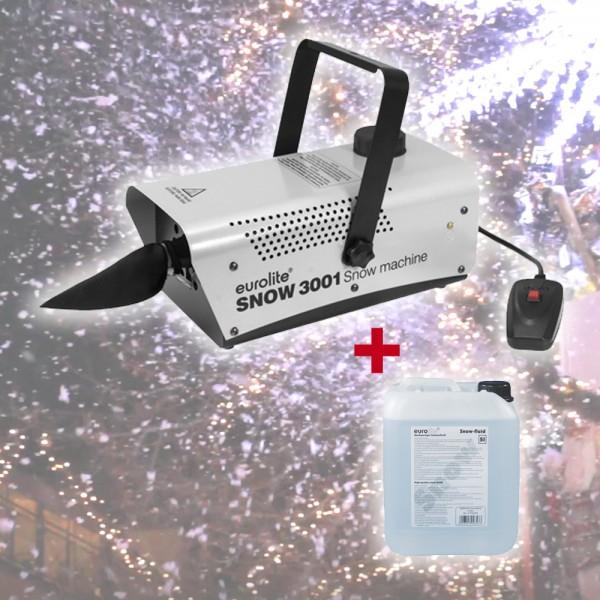 Schneemaschine Snow 3001 - 700W - mit Fernbedienung - Für Kunstschnee + 5 Liter Fluid