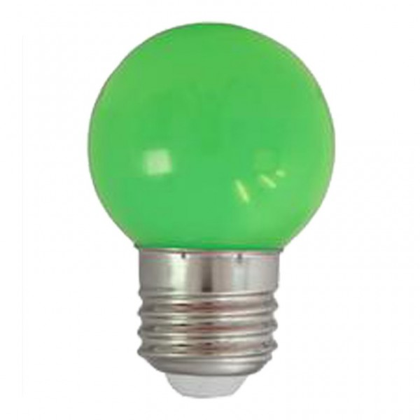 LED-Leuchtmittel | Heitronic | G45 - E27 | 1W | Grün