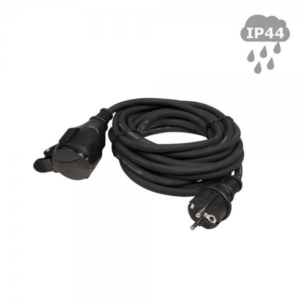 Stromkabel / Verlängerungskabel | Schutzkontakt | Outdoor| 3x1,5mm² | 5,00m - mit Deckel