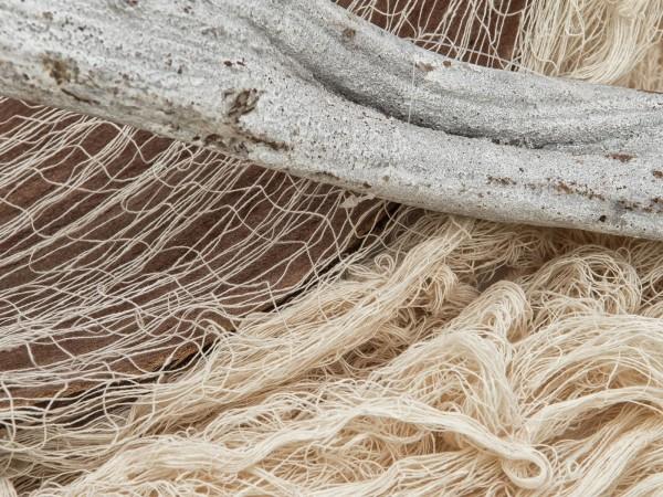 Dekogewebe, grobmaschig, beige, 76x500cm - Ideale Grunddeko - Baumwolle