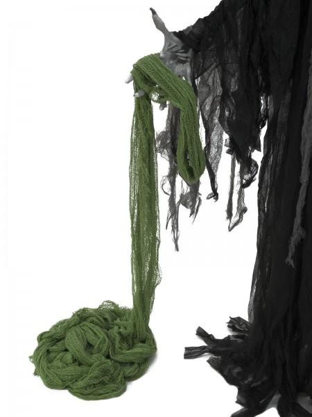 Dekogewebe, grobmaschig, grün, 76x500cm - Ideale Grunddeko - Baumwolle