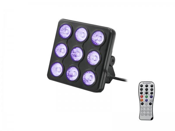LED Party Panel RGB+UV - Farbwechsel mit Musiksteuerung und eingebauten Programmen