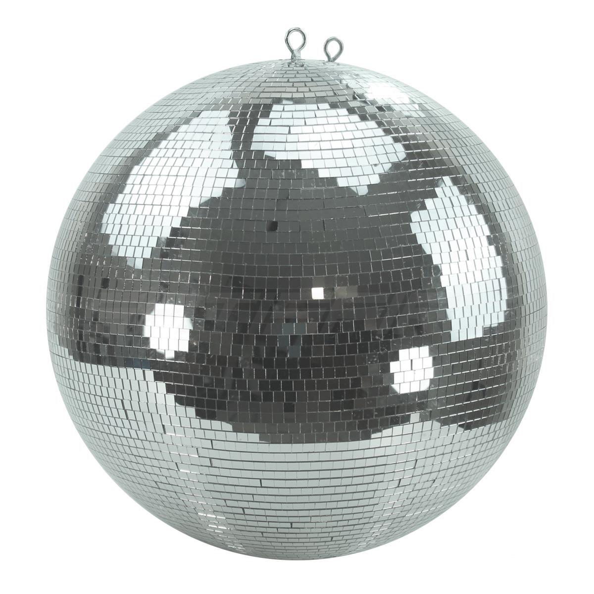 B-Ware Spiegelkugel 50cm - silber - Safety - Diskokugel Echtglas - 10x10mm Spiegel PROFI