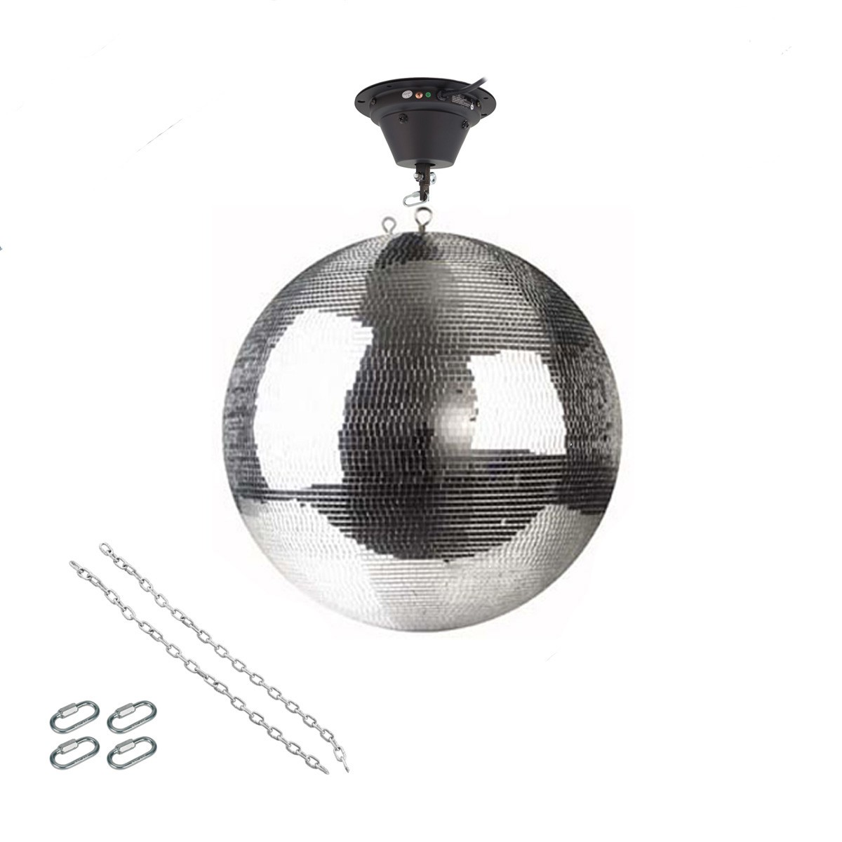 Spiegelkugel Set 50cm Kugel PREMIUM + Motor MBM-5010, 2 Ketten, 4 Kettenglieder