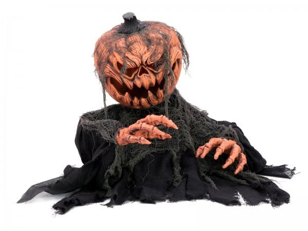 Kürbismonster - bewegte 50cm Halloween Figur mit Licht und Geräuscheffekten - Sensor