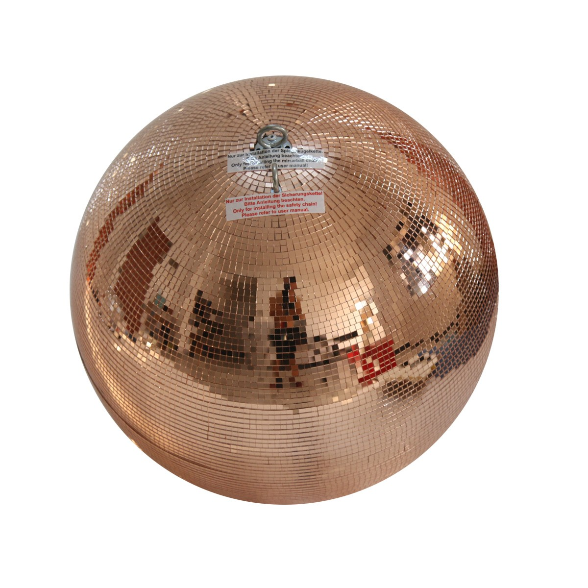 Spiegelkugel 40cm - kupfer - Safety - Diskokugel Echtglas - 10x10mm Spiegel PROFI