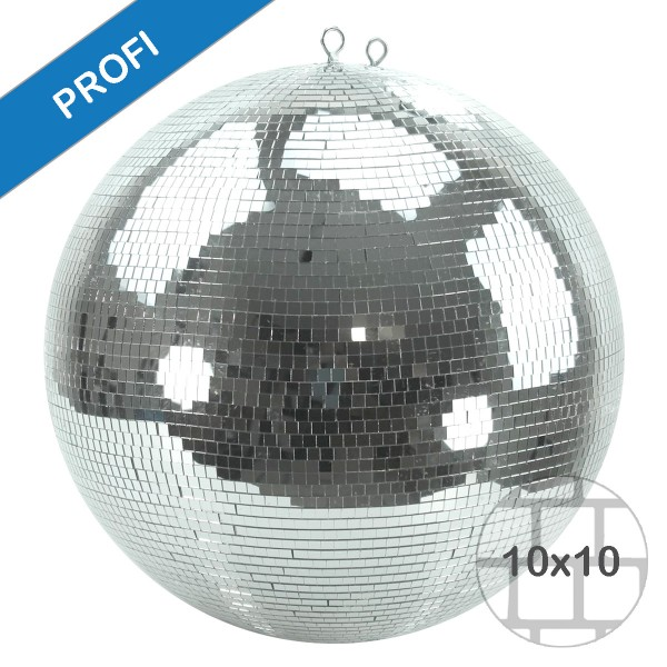 Spiegelkugel 50cm silber chrom- Diskokugel (Discokugel) Party Lichteffekt - Echtglas - mirrorball safety chrome color
