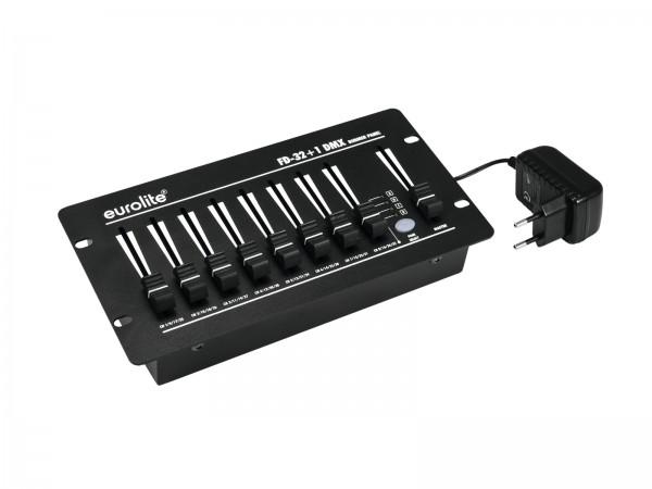 DMX Steuerung - Controller - 32 Kanäle + Master - Batteriebetrieb möglich - 32+1 Fader - inkl. externes Netzteil