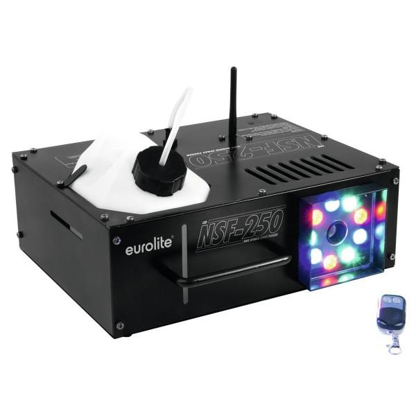NSF-250 LED DMX Hybrid Spray Fogger - Vertikale/Horizontale Nebelmaschine mit LED Spot