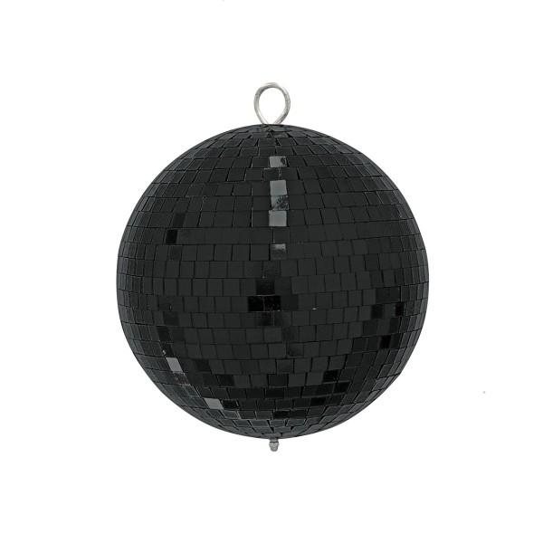 Spiegelkugel 20cm farbig schwarz- Diskokugel (Discokugel) zur Dekoration und Party- Echtglas - mirrorball black colored