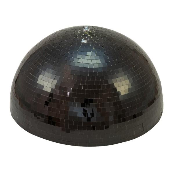 Spiegelkugel halb schwarz 50cm - für Deckenmontage - Diskokugel Echtglas - 10x10mm Spiegel - PROFI