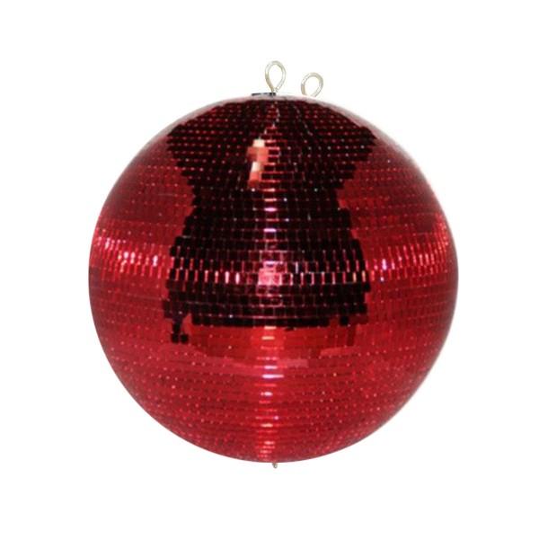 Spiegelkugel 50cm rot- Diskokugel (Discokugel) Party Lichteffekt - Echtglas - mirrorball safety red color