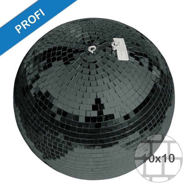 Spiegelkugel 75cm schwarz- Diskokugel (Discokugel) Party Lichteffekt - Echtglas - mirrorball safety black color