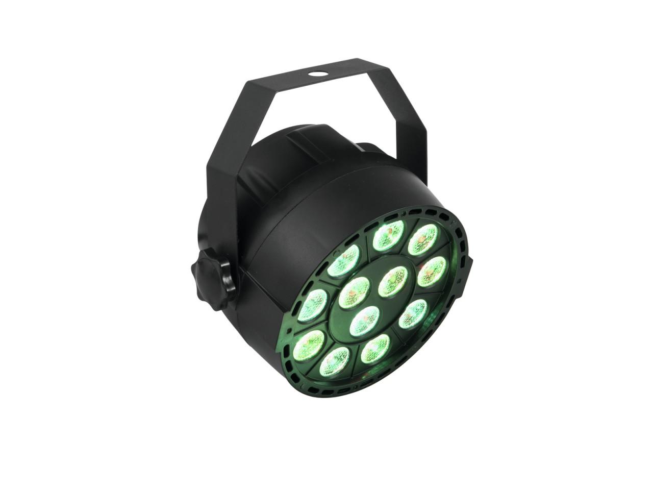 PARty Spot 12x3W RGB - heller Partyscheinwerfer mit 3 Farben - Automatik-, Musik- oder DMX-Steuerung