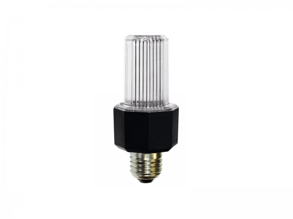 LED E27 Stroboskop Lampe clear - Strobe mit ca. 1 Blitz/Sec