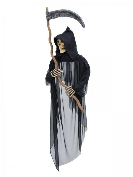 Halloween Figur Sensenmann, 150cm, formbar, beweglicher Kiefer - zum Hängen
