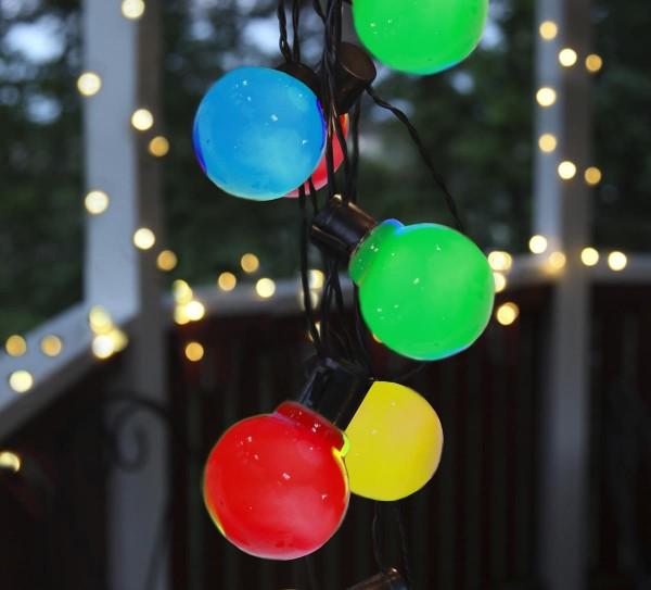LED-Partylichterkette - Party Line Outdoor - 9,50m - 16 Bunt - Schwarz