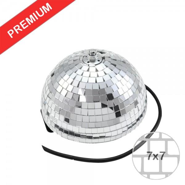 Spiegelkugel halb 20cm - für Deckenmontage - Diskokugel Echtglas - 7x7mm Spiegel - PREMIUM