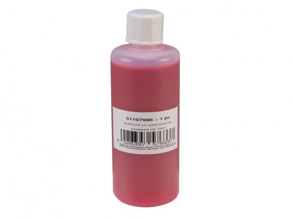 UV -aktive Stempelfarbe - transparent rot - 100ml