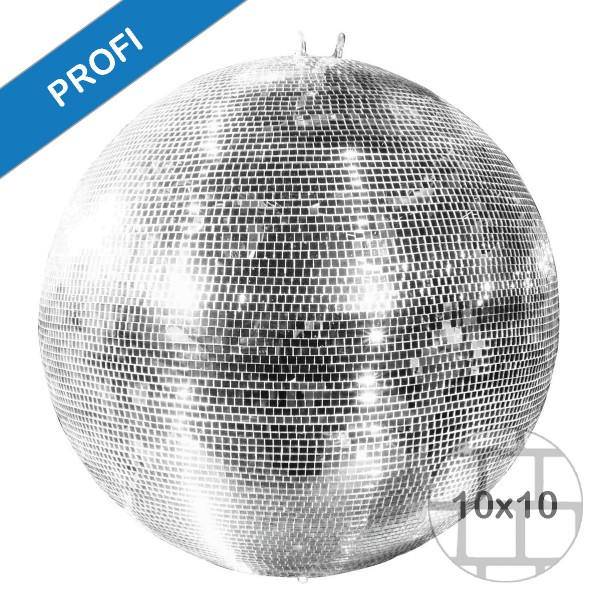 Spiegelkugel 150cm silber chrom- Diskokugel (Discokugel) Party Lichteffekt - Echtglas - mirrorball safety silver chrome color 1