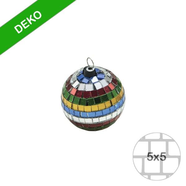 Spiegelkugel 5cm mehrfarbig bunt- Discokugel Echtglas zur Dekoration - mirrorball multicolor