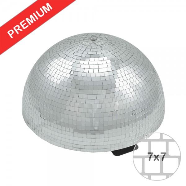 Spiegelkugel halb 40cm - für Deckenmontage - Diskokugel Echtglas - 7x7mm Spiegel - PREMIUM