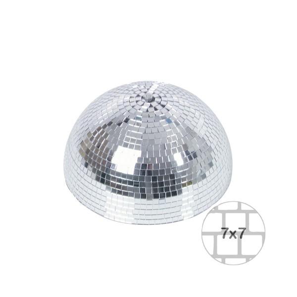 Spiegelkugel halb 30cm - für Deckenmontage - Diskokugel Echtglas - 7x7mm Spiegel - PREMIUM