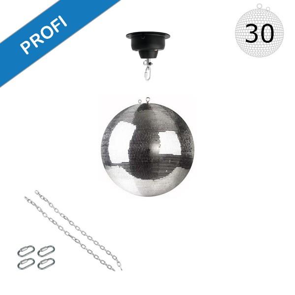 Spiegelkugel Set 30cm Kugel PROFI + Motor MBM-404, 2 Ketten, 4 Kettenglieder