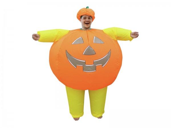 Aufblasbares Kostüm Kürbismann - Lustiges Halloween Kostüm - super leicht
