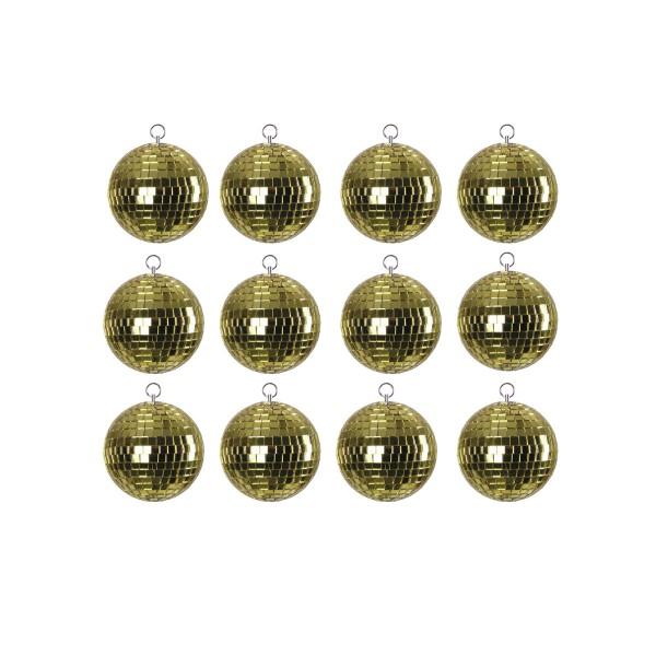 Spiegelkugel SET 12x5cm gold - DEKO - Baumschmuck Dekoration