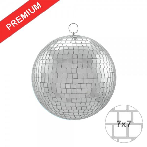 Spiegelkugel 20cm - silber - Safety - Diskokugel Echtglas - 7x7mm Spiegel PREMIUM